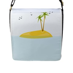 Summer Sea Beach Flap Messenger Bag (l)  by Jojostore