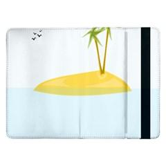 Summer Sea Beach Samsung Galaxy Tab Pro 12 2  Flip Case by Jojostore
