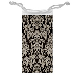 Wild Textures Damask Wall Cover Jewelry Bag by Jojostore