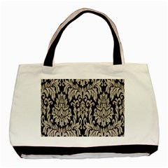 Wild Textures Damask Wall Cover Basic Tote Bag (two Sides) by Jojostore