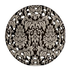 Wild Textures Damask Wall Cover Round Filigree Ornament (two Sides)