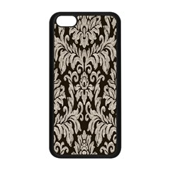 Wild Textures Damask Wall Cover Apple Iphone 5c Seamless Case (black) by Jojostore