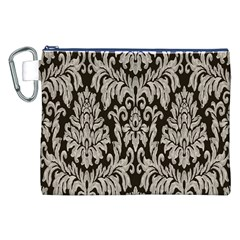 Wild Textures Damask Wall Cover Canvas Cosmetic Bag (xxl) by Jojostore