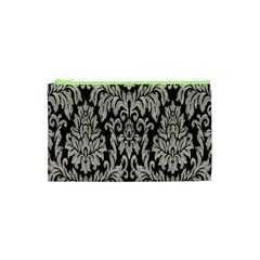 Wild Textures Damask Wall Cover Cosmetic Bag (xs) by Jojostore