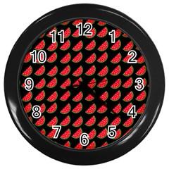 Watermelon Wall Clocks (black) by Jojostore