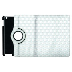 Web Grey Flower Pattern Apple Ipad 2 Flip 360 Case by Jojostore