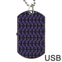 Psychedelic 70 S 1970 S Abstract Dog Tag USB Flash (One Side) by Nexatart