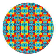 Pop Art Abstract Design Pattern Magnet 5  (round)
