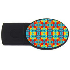 Pop Art Abstract Design Pattern Usb Flash Drive Oval (2 Gb) by Nexatart