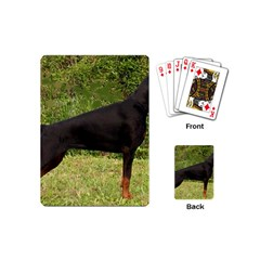 Doberman Pinscher Black Full Playing Cards (Mini)