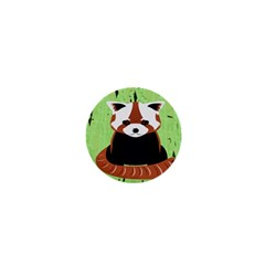Red Panda Bamboo Firefox Animal 1  Mini Buttons