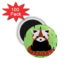 Red Panda Bamboo Firefox Animal 1 75  Magnets (100 Pack)  by Nexatart