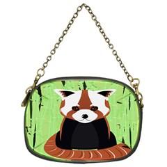Red Panda Bamboo Firefox Animal Chain Purses (One Side)  by Nexatart