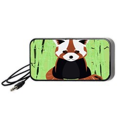 Red Panda Bamboo Firefox Animal Portable Speaker (black)