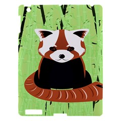 Red Panda Bamboo Firefox Animal Apple Ipad 3/4 Hardshell Case by Nexatart