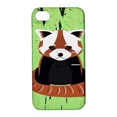 Red Panda Bamboo Firefox Animal Apple Iphone 4/4s Hardshell Case With Stand