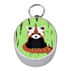 Red Panda Bamboo Firefox Animal Mini Silver Compasses