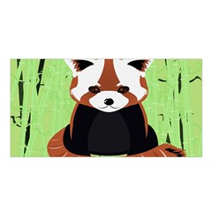 Red Panda Bamboo Firefox Animal Satin Shawl
