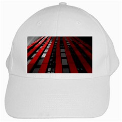 Red Building City White Cap by Nexatart