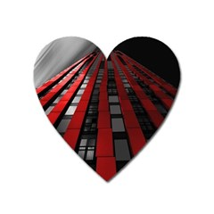 Red Building City Heart Magnet by Nexatart