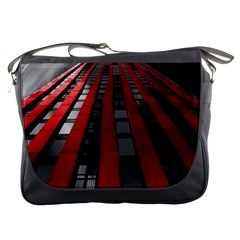 Red Building City Messenger Bags