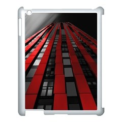 Red Building City Apple Ipad 3/4 Case (white) by Nexatart