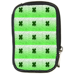 Shamrock Pattern Background Compact Camera Cases by Nexatart