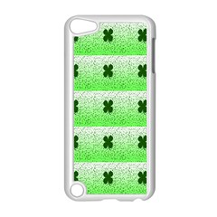 Shamrock Pattern Background Apple Ipod Touch 5 Case (white)