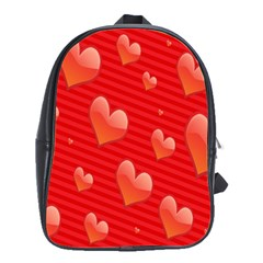 Red Hearts School Bags(large)