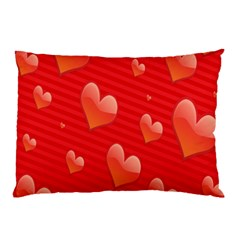 Red Hearts Pillow Case (two Sides)