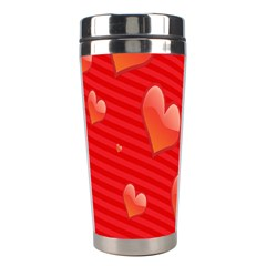 Red Hearts Stainless Steel Travel Tumblers by Nexatart