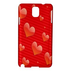 Red Hearts Samsung Galaxy Note 3 N9005 Hardshell Case by Nexatart