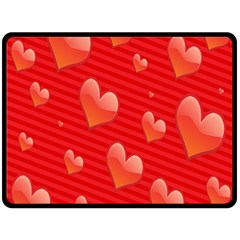 Red Hearts Double Sided Fleece Blanket (large)