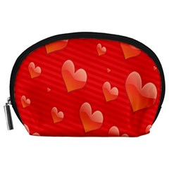 Red Hearts Accessory Pouches (large)