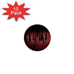Silhouette Of Circus People 1  Mini Buttons (10 pack)  by Nexatart
