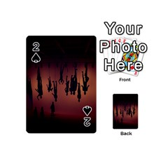 Silhouette Of Circus People Playing Cards 54 (mini)