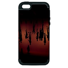 Silhouette Of Circus People Apple Iphone 5 Hardshell Case (pc+silicone) by Nexatart