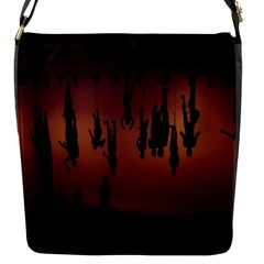 Silhouette Of Circus People Flap Messenger Bag (s) by Nexatart