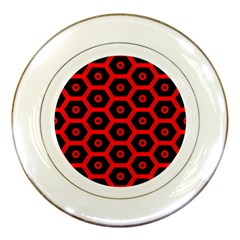 Red Bee Hive Texture Porcelain Plates