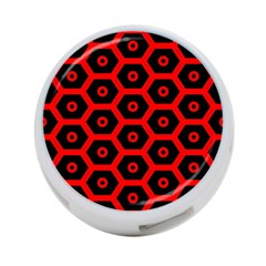 Red Bee Hive Texture 4 Port Usb Hub (one Side)