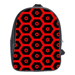 Red Bee Hive Texture School Bags (xl)