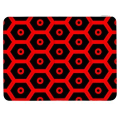 Red Bee Hive Texture Samsung Galaxy Tab 7  P1000 Flip Case