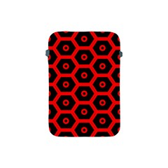 Red Bee Hive Texture Apple Ipad Mini Protective Soft Cases by Nexatart