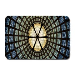 Stained Glass Colorful Glass Plate Mats by Nexatart