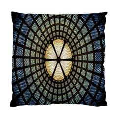 Stained Glass Colorful Glass Standard Cushion Case (one Side) by Nexatart