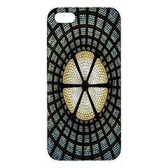 Stained Glass Colorful Glass Apple Iphone 5 Premium Hardshell Case by Nexatart