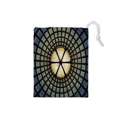 Stained Glass Colorful Glass Drawstring Pouches (small)  by Nexatart