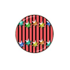 Star Christmas Greeting Hat Clip Ball Marker by Nexatart