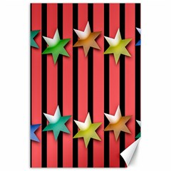 Star Christmas Greeting Canvas 24  X 36