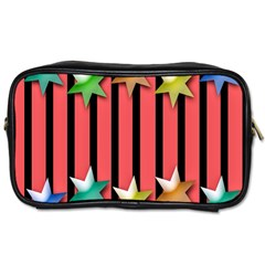 Star Christmas Greeting Toiletries Bags 2 Side by Nexatart